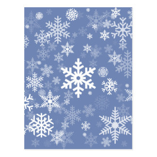 Snowflakes Graphic Customize Color Background on a Postcard