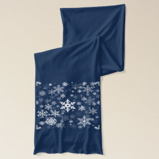 Snowflakes Graphic Customize Color Background on a Scarf
