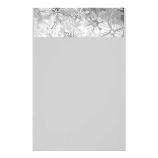 snowflakes gray greys winter digital realism layer customized stationery