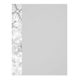 snowflakes gray greys winter digital realism layer letterhead template