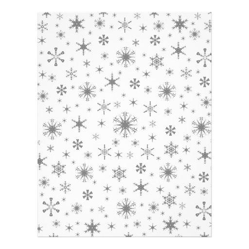Snowflakes – Gray on White Letterhead Design