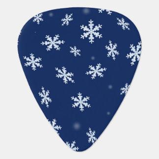 Snowflakes Guitar Pick