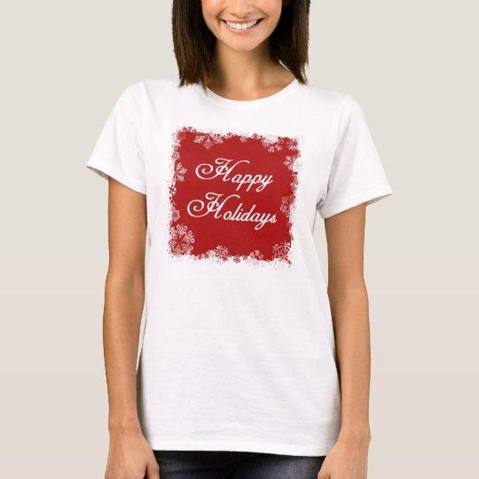 Snowflakes Happy Holidays Shirt