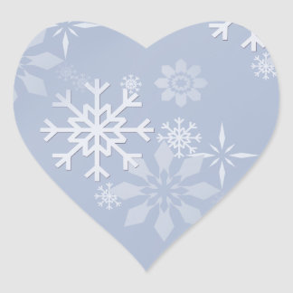 Snowflakes Heart Sticker
