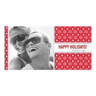 Snowflakes Holiday Photo Card