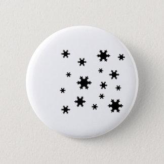 snowflakes icon 2 inch round button