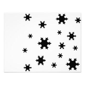 snowflakes icon custom invitation