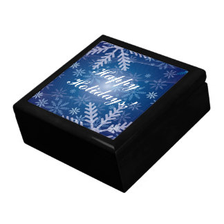 Snowflakes in Blue Gift Box