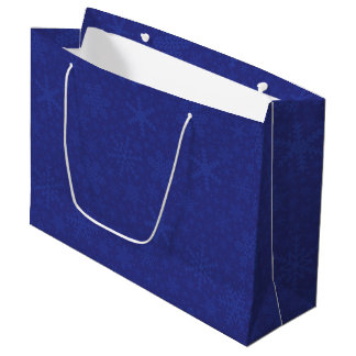 Snowflakes in Blue   Holiday Gift Bag