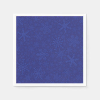 Snowflakes in Blue | Holiday Napkins