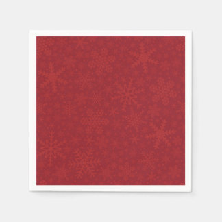Snowflakes in Red | Holiday Napkins
