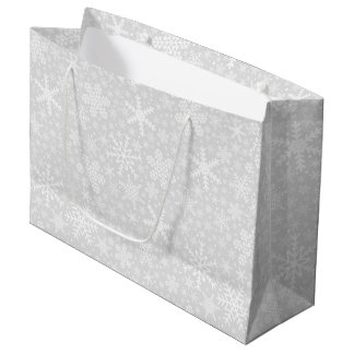 Snowflakes in Silver   Holiday Gift Bag