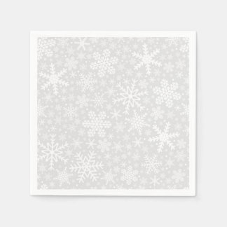 Snowflakes in Silver | Holiday Napkins Paper Napkin