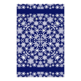 Snowflakes Lace Personalized Stationery