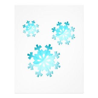 Snowflakes Letterhead Template