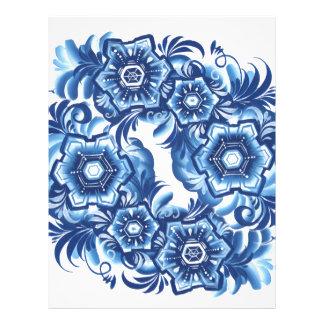 Snowflakes Customized Letterhead