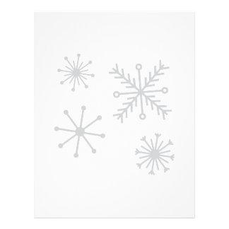 Snowflakes Custom Letterhead