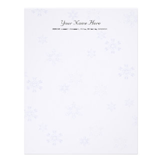 Snowflakes Letterhead Stationery Linen Paper