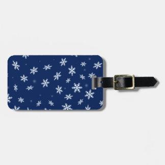 Snowflakes Luggage Tag
