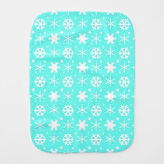 Snowflakes Mint Burp Cloth