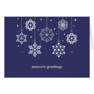 Snowflakes Mobile Holiday Greeting Card