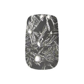 Snowflakes Nails Minx Nail Art