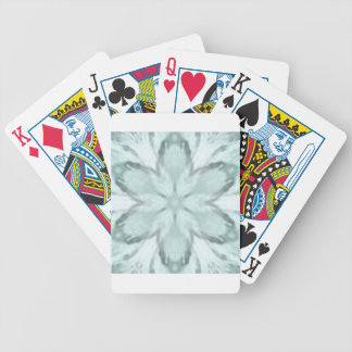 Snowflakes of blue bicycle playing cards