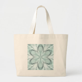 Snowflakes of blue large tote bag