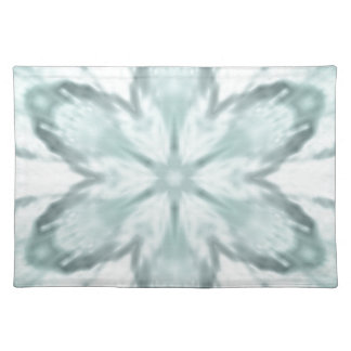 Snowflakes of blue placemat