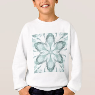 Snowflakes of blue sweatshirt