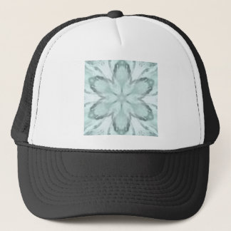 Snowflakes of blue trucker hat