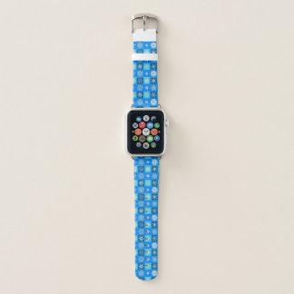 Snowflakes On Blue Apple Watch Band