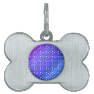 Snowflakes on Blue Pet Tag