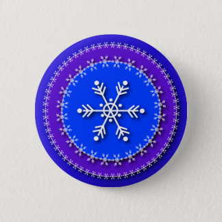 Snowflakes on Blue & Purple 2 Inch Round Button