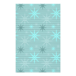 Snowflakes on Blue Stationery