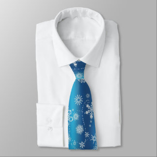 Snowflakes on Blue Tie