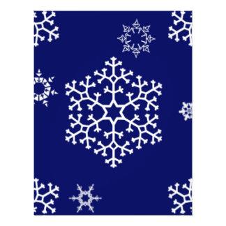 snowflakes_on_dark_blue flyer design