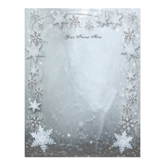Snowflakes on Ice Personalized Letterhead