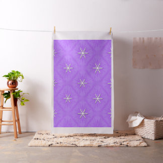 Snowflakes on lavender... fabric