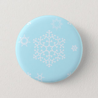 snowflakes_on_light_blue 2 inch round button