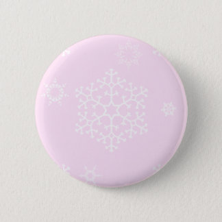 snowflakes_on_light_pink 2 inch round button