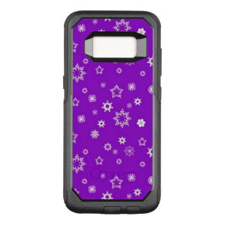 Snowflakes on Purple OtterBox Commuter Samsung Galaxy S8 Case