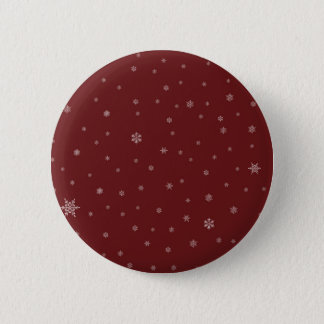 Snowflakes on Red 2 Inch Round Button