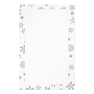 Snowflakes on White  Background Stationery Paper