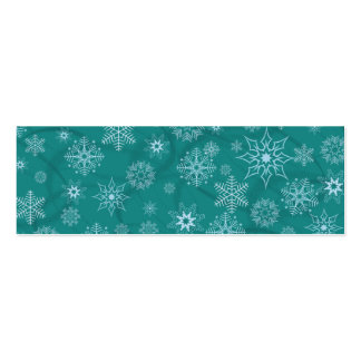 Snowflakes on winter blue mini business card