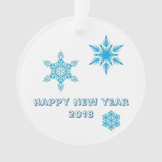 Snowflakes ornament - happy new year 2018 wishes