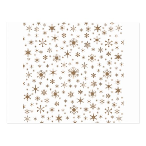 Snowflakes – Pale Brown on White Post Cards