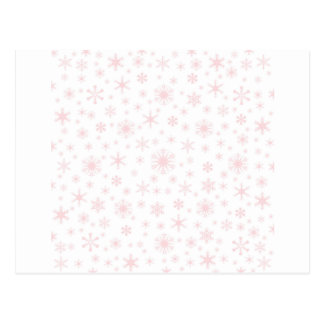 Snowflakes – Pale Pink on White Postcards