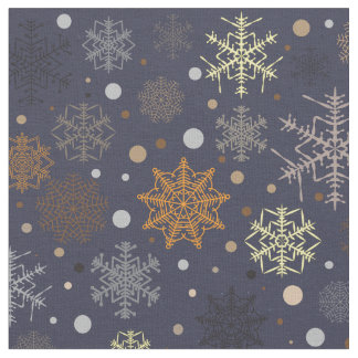 Snowflakes pattern - Christmas gifts Fabric