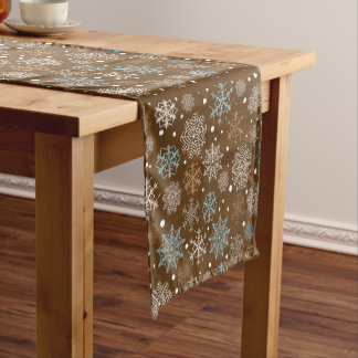 Snowflakes pattern - Christmas gifts Short Table Runner